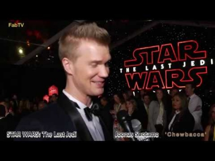 Joonas Suotamo 'Chewbacca' at STAR WARS  The Last Jedi premiere