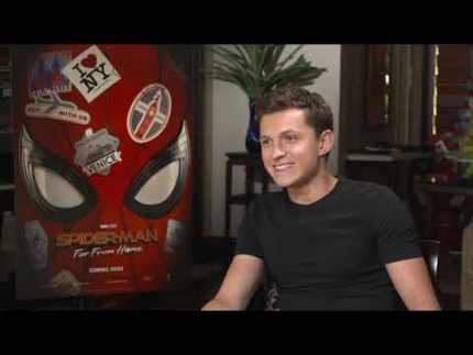 Chris Hemsworth &  Tom Holland go at it!  Spider-Man: Far from...