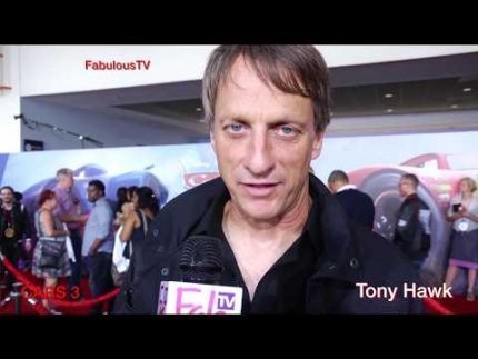 Pro Skater Tony Hawk at 'CARS 3' premiere on FabulousTV