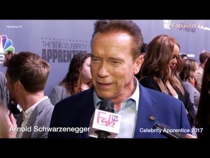 Arnold Schwarzenegger at the 'Celebrity Apprentice' 2017 on Fabulous TV