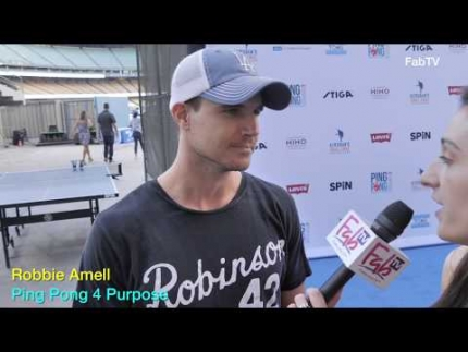 Robbie Amell @ Ping Pong 4 Purpose talks about his new series on AMAZON