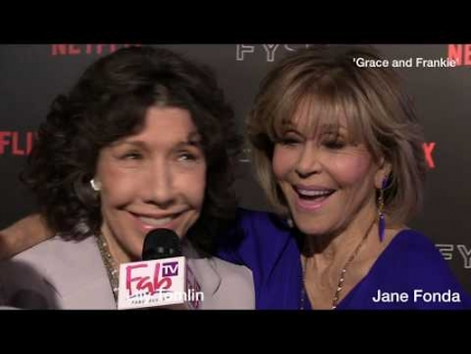 "Lily Tomlin and Jane Fonda  Interview about ""GRACE and FRANKIE"""