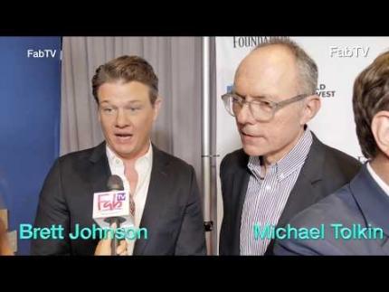 Brett Johnson &  Michael Tolkin at WGA