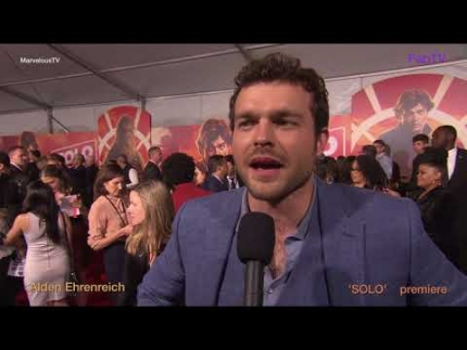 Alden Ehrenreich at the 'SOLO' Star Wars Red Carpet & Premiere