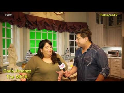 EXCLUSIVE:  On the set of 'THE MICK' with star 'Carla Jimenez' on FabulousTV