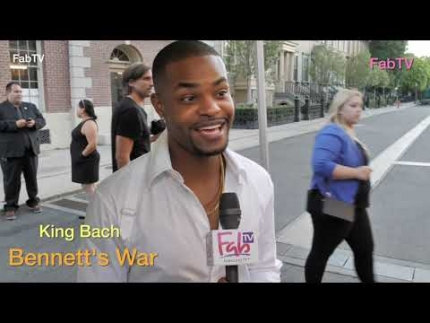 """King Bach"" tries to hide at ""Bennett's War"" world premiere"