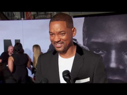 "Will Smith details himself at the ""Gemini Man"" World..."