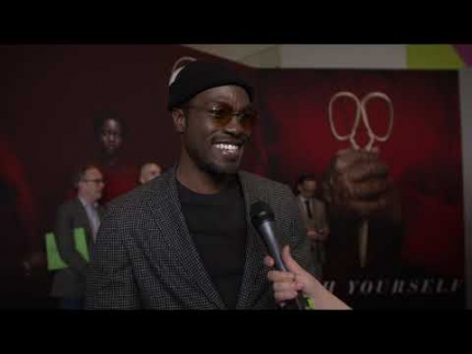 "Yahya Abdul Mateen II   ""Russel Thomas""  at the NYC ""US"" premiere"