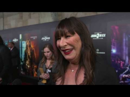 Angelica Huston RED CARPET of John Wick:  Chapter 3  Parabellum
