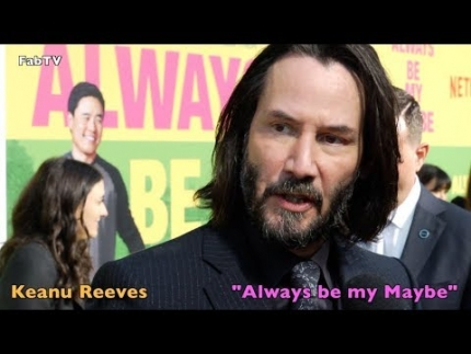 "Keanu Reeves at the ""Always be my Maybe"""