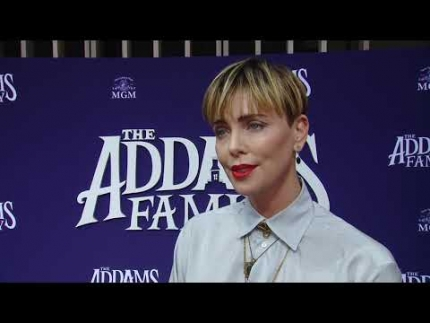 "Charlize Theron ""The Addams Family""  premiere"