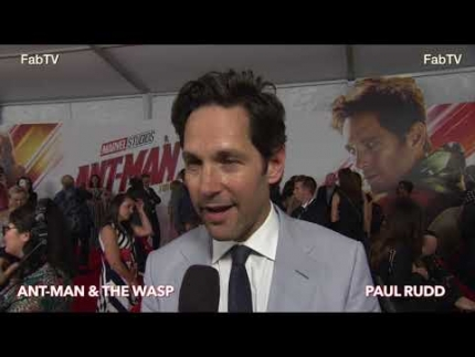 "Paul Rudd at the ""Ant-Man & WASP"" premiere on FabTV"