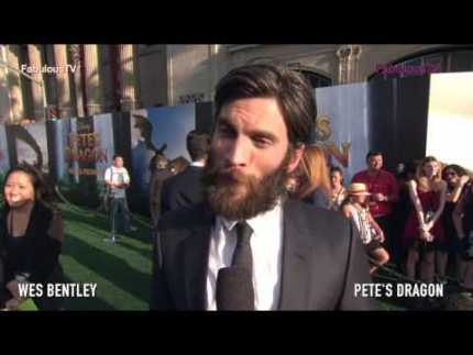Wes Bentley at Pete's Dragon world premiere on Fabulous TV
