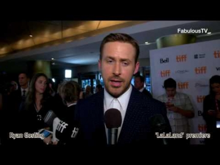 Ryan Gosling at the 'La La Land' premiere on FabulousTV