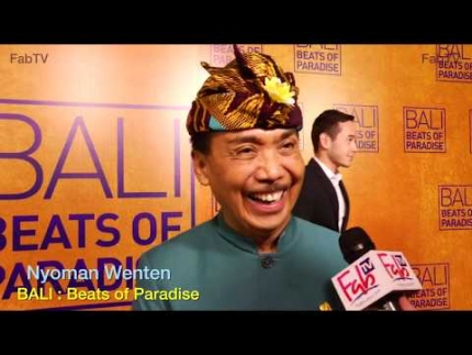 Nyoman Wenten at the  BALI:  'Beats of Paradise' premiere