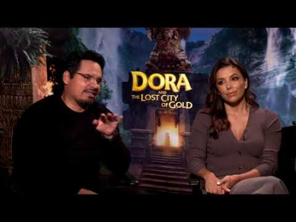"Eva Longoria &  Michael Pena detail ""Dora and the Lost City of Gold"""