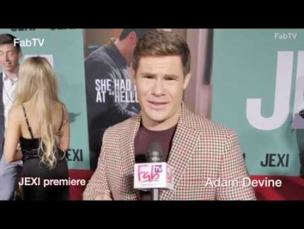 "Adam Devine reveals ""JEXI""  at the  premiere & red carpet"