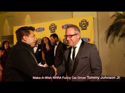 Make A Wish NHRA Funny Car Driver Tommy Johnson Jr. at 2018 NHRA Mello Yello Awards