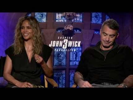 """John Wick 3""with actress  Halle Berry & director Chad Stahelski"