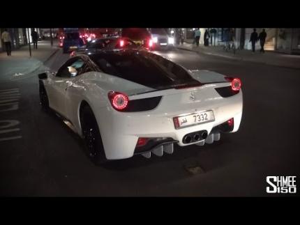 Oakley Design Ferrari 458 Italia - Startup and Driving in London
