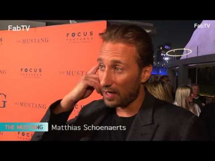 "Matthias Schoenaerts at ""THE MUSTANG"" premiere"