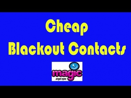 Cheap Blackout Contacts