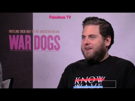 Miles Teller & Jonah Hill describe 'WAR DOGS' with FabulousTV