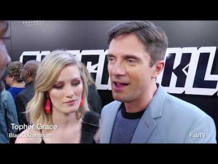 """Topher Grace details """"BlacKkKlansman""""  premiere"""