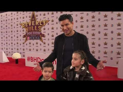 "Mario Lopez with his kids at ""The Beverly Hills Dog Show"""