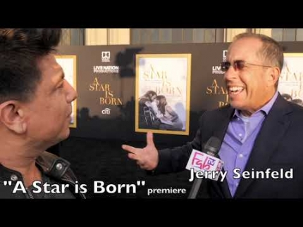"Jerry Seinfeld at the ""A Star is Born""  premiere tonight!"