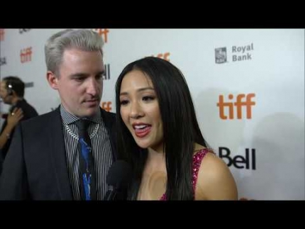"Constance Wu  who plays ""Destiny"" at the ""HUSTLERS"" premiere @TIFF"