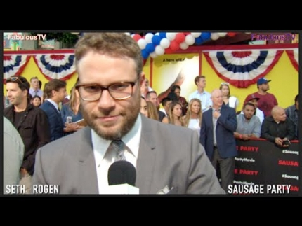 Seth Rogen at Sausage Party premiere on Fabulous TV