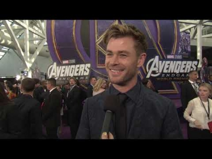 CHRIS HEMSWORTH at the Avengers Edgame PREMIERE