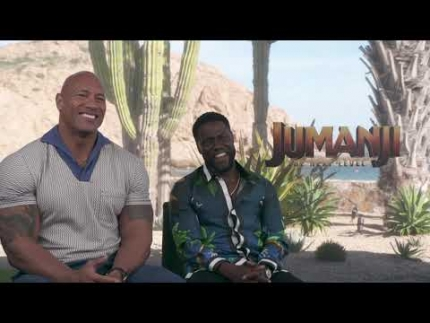 "Dwayne Johnson & Kevin Hart love  ""JUMANJI"""