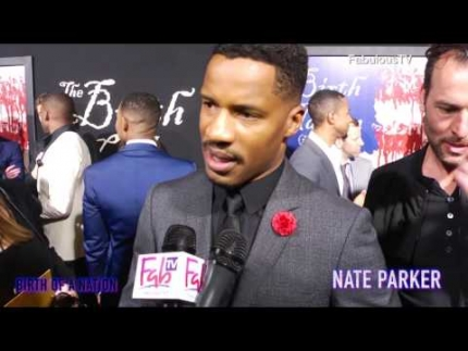 Nate Parker director-writer-actor of 'Birth of a Nation' red carpet on FabulousTV