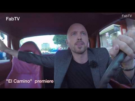 "EXCLUSIVE! Aaron Paul arrives at the ""EL CAMINO""  premiere with police chasing him!"