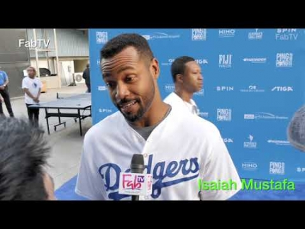 Isaiah Mustafa at  Kershaw's Ping Pong 4Purpose 2019