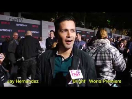 Jay Hernandez  at the 'Bright' World Premiere on FabTV