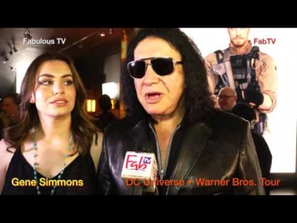 Gene Simmons  at DC Universe • Warner Bros.  Tour Fabulous TV