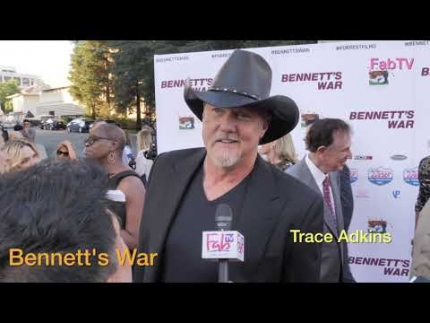 "Trace Adkins at ""Bennett's War""  world premiere at Warner Bros. studio  lot"