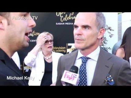 Michael Kelly of House of Cards at the 70th Anniversary at TV Academy red carpet on Fabulous TV