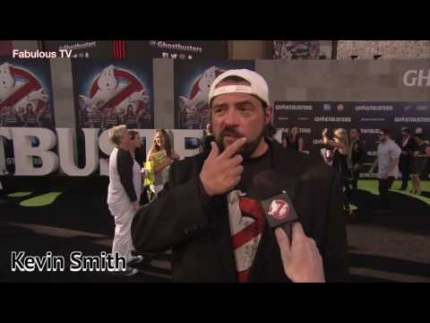 Andy Garcia & Kevin Smith at the Ghostbusters world premiere on  Fabulous TV