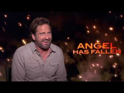 "Gerard Butler breaks down ""ANGEL HAS FALLEN"""
