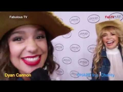Dyan Cannon looking great at the SHARE Inc. charity on Fabulous TV