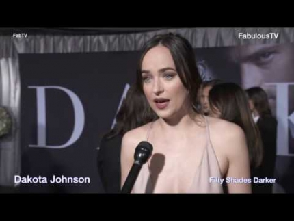 Dakota Johnson at 'Fifty Shades Darker' premiere talks about the film