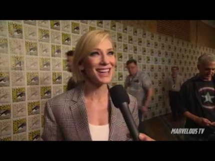 Cate Blanchett at Comic-Con 2017 talks about Thor: Ragnarok