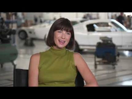 "Ford vs. Ferrari actress ""Caitriona Balfe"" plays..."
