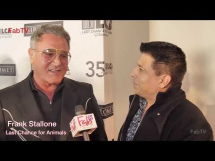"""Last Chance for Animals"" red carpet with Frank Stallone"