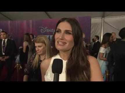 "IDINA MENZEL ""Elsa"" reveals ""Frozen 2"""