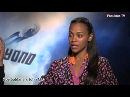 John Cho & Zoe Saldana talk about STAR TREK  BEYOND  with Fabulous TV